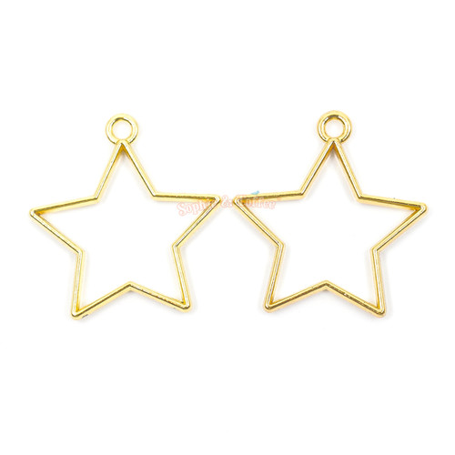 Star Open Bezel Charms (3 pieces)