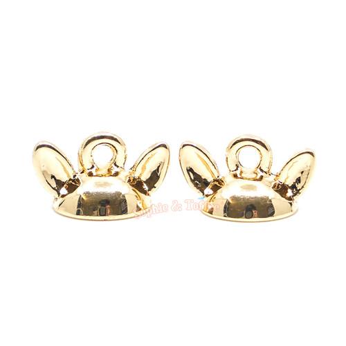Animal Ears Glue on Cap Hoop Charm (3 pieces)
