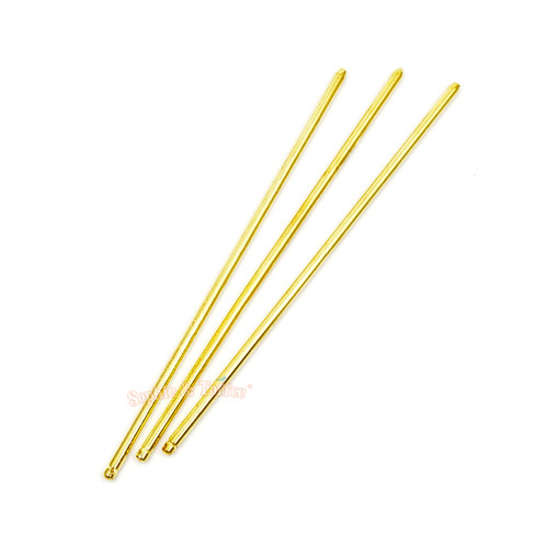 Gold Hair Pin Rod Sticks (4 pieces)