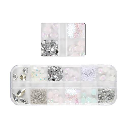 Iridescent Snowflakes Embellishment Mix (12 designs)