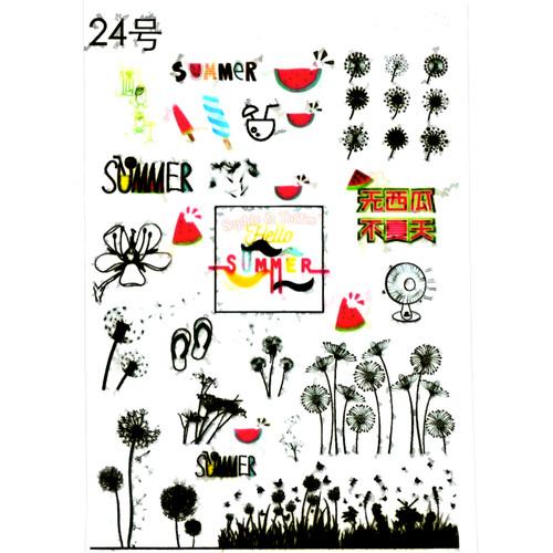 Summer Flowers Clear Resin Film