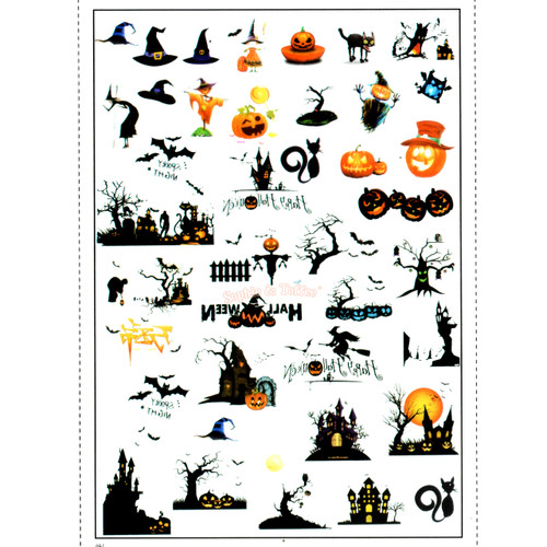 Halloween Spooky Clear Resin Film