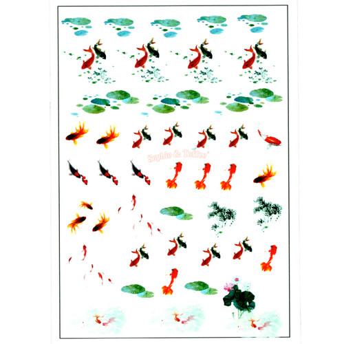 Koi Fish Pond Clear Resin Film
