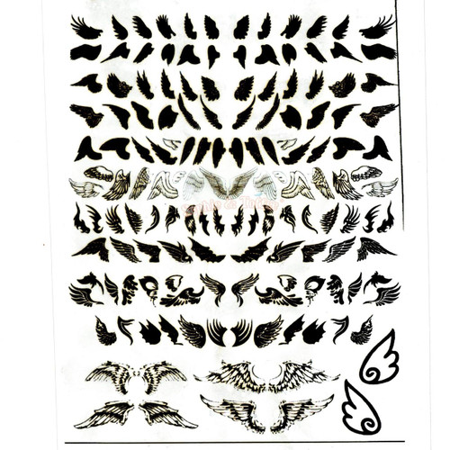 Black Wings Silhouette Clear Resin Film