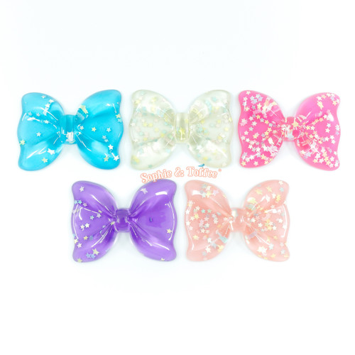 Big Confetti Ribbon Resin Cabochon (5 pieces)
