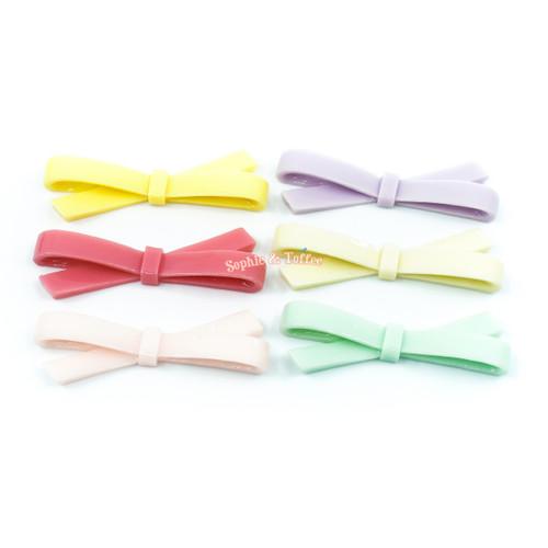 Lolita Ribbon Resin Cabochon (6 pieces)