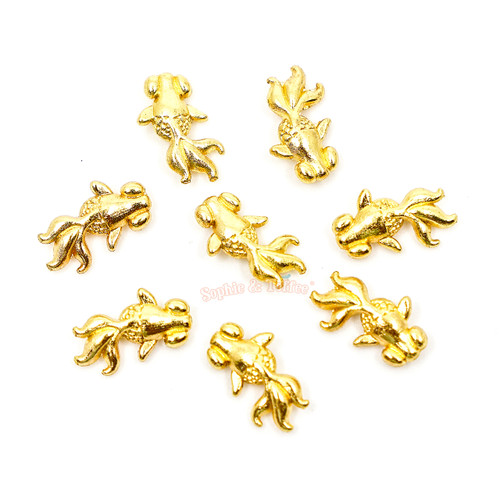 Goldfish Metal Charm Embellishment Inclusions (10 pieces)