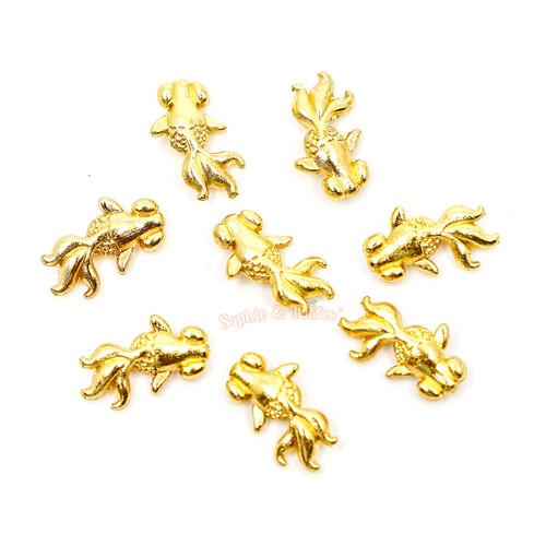 Goldfish Metal Charm Embellishment Inclusions (10 pieces)