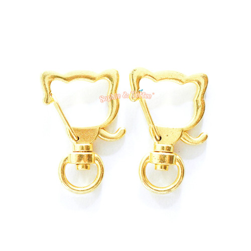 Kitty Cat Snap Clip Swivel Ring (4 pieces)