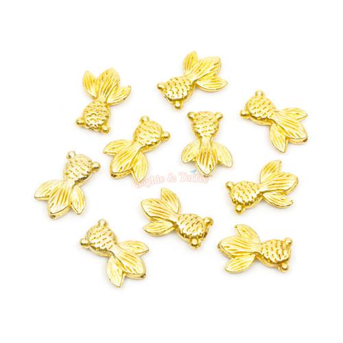 Goldfish Metal Embellishment Inclusions (10 pieces)