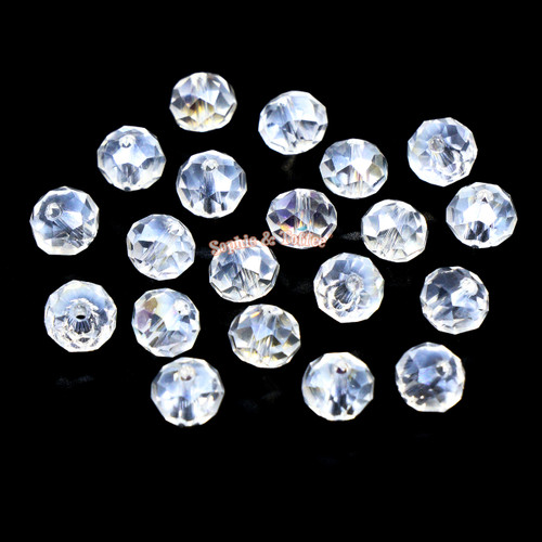 Iridescent Faceted Glass Beads 8mm (30 pieces)
