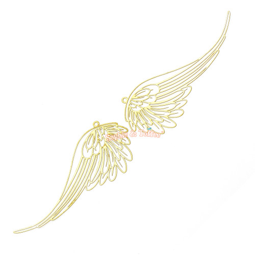 Angel Wings Metal Bookmark Charm (4 pieces)