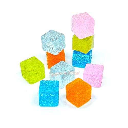 Fake Sugar Cubes Cabochon (10 pieces)