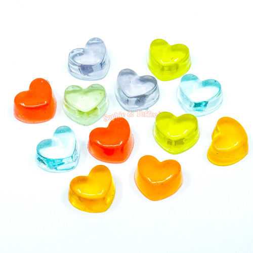 Squishy Fake Heart Candy Cabochon (12 pieces)