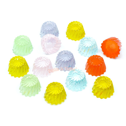 Squishy Fake Pudding Cabochon (14 pieces)