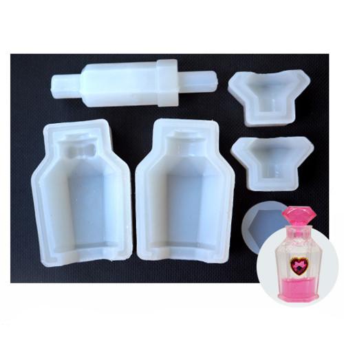 3D Diamond Perfume Bottle Silicone Mold