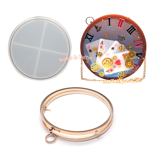 Circle Shaker Clutch Bag Silicone Mold Kit