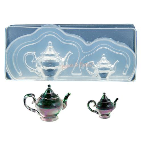 3D Miniature Victorian Teapot Silicone Mold