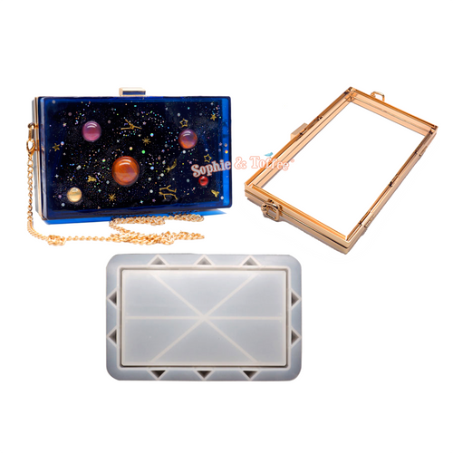 Rectangle Shaker Clutch Bag Silicone Mold Kit