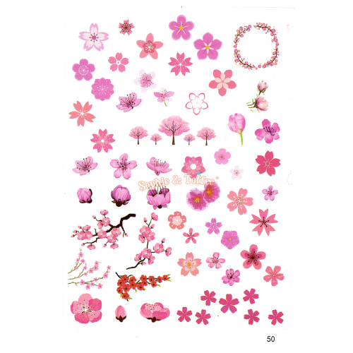 Sakura Cherry Blossom Clear Resin Film