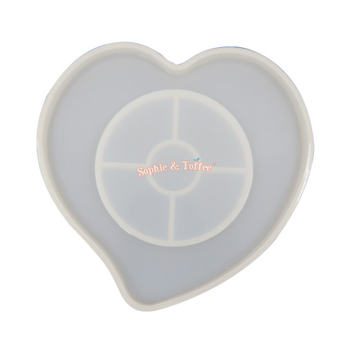 Heart Shaker or Coaster Silicone Mold