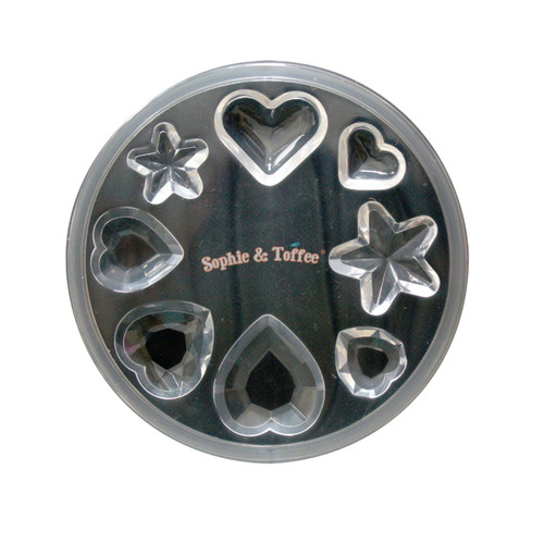 Faceted Gems Heart & Star Silicone Mold (from Japan)