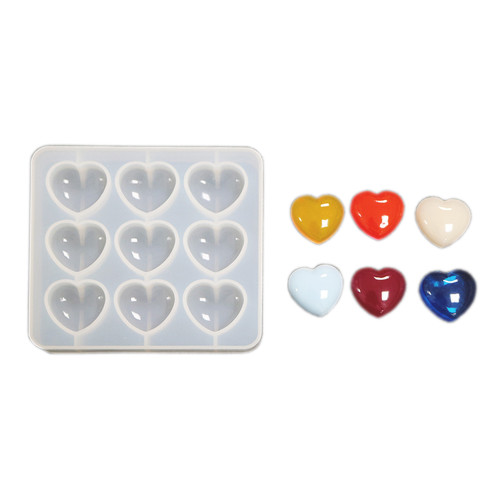 Small Puffy Heart Clear Silicone Mold