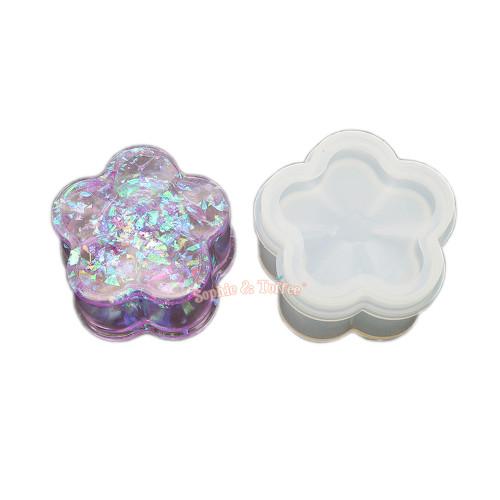 Sakura Flower Trinket Box Silicone Mold