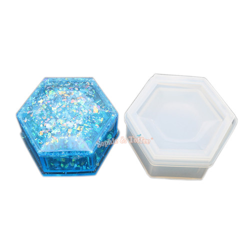 Hexagon Trinket Box Silicone Mold