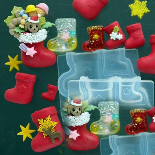 3D Christmas Stocking Silicone Mold