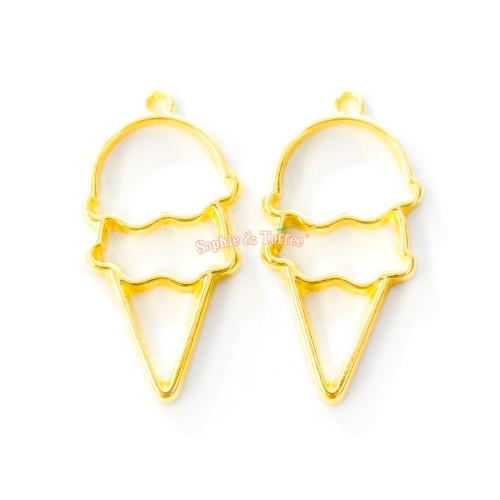 Ice Cream Open Bezel Charm (6 pieces)