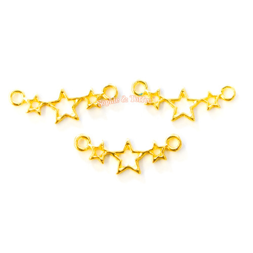 Small Stars Open Bezel Charm (8 pieces)