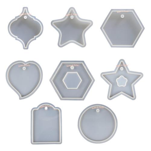 Geometric Tag Pendant Silicone Mold