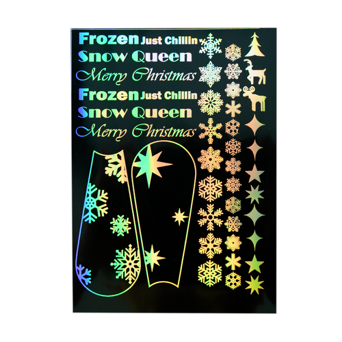 Snowflake Christmas Holographic Resin Film