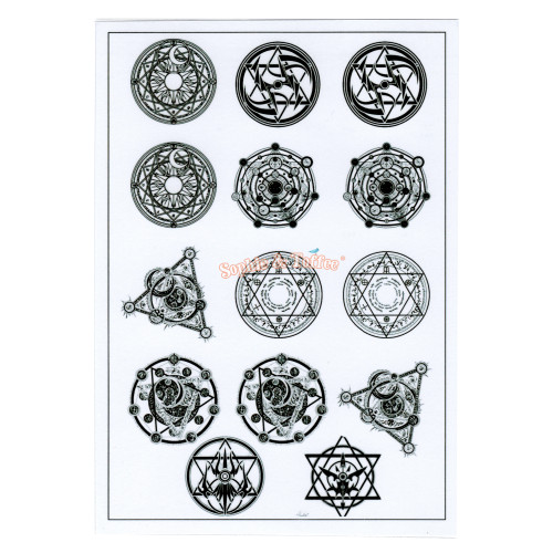 Black Silhouette Magic Circle Resin Clear Film