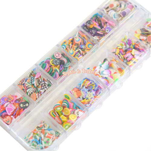 Assorted Polymer Clay Slices Sprinkles