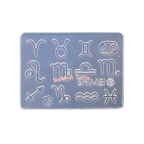 Zodiac Signs Lace Silicone Mold