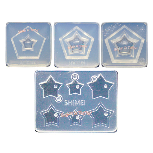 3D Hollow Star Silicone Mold (4 pieces)