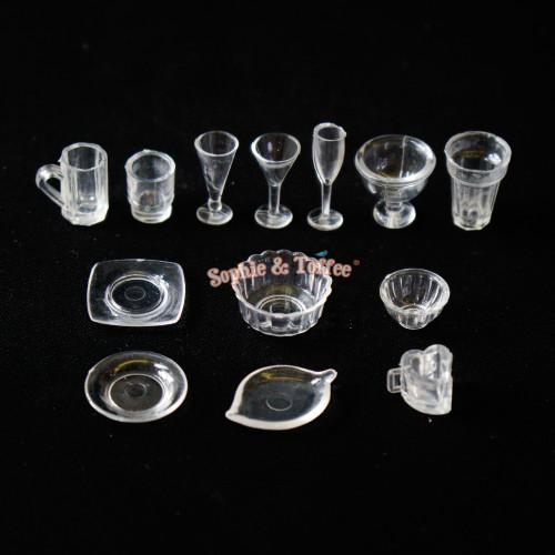 Miniature Cup & Bowl Set (2 sets)