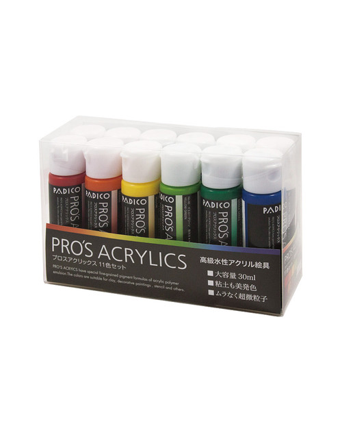 Pro's Acrylics 11 Colors Set (Made in Japan)