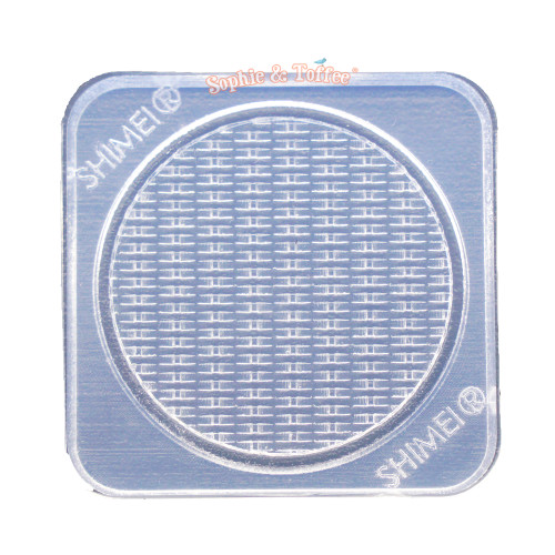 Round Miniature Basket Tray Silicone Mold