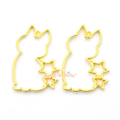 Kitty with Stars Open Bezel Charm (3 pieces)