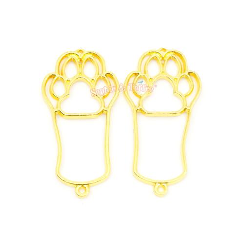 Cat Paw Open Bezel Charm (5 pieces)