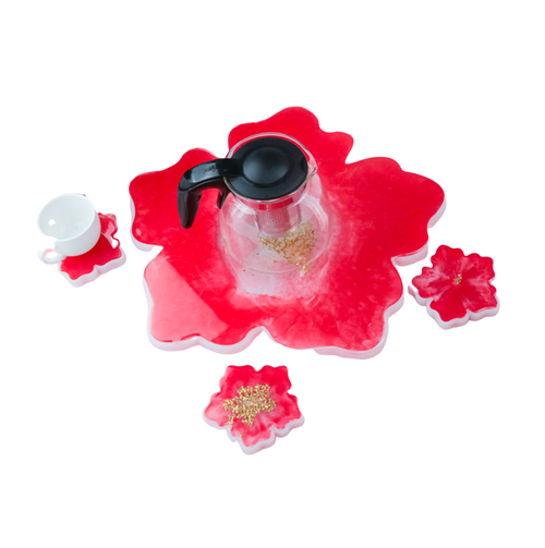 Big Flower Coaster Display Silicone Mold