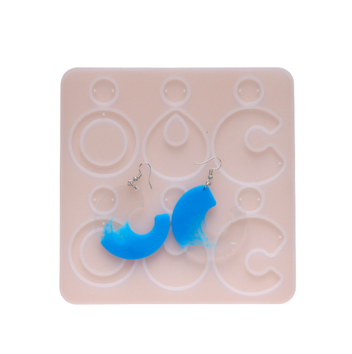 Big Earrings Pendant Silicone Mold