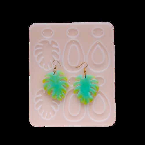 Leaf Loop Earrings Silicone Mold