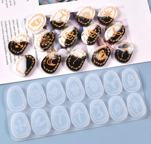 Runes Stones Silicone Mold (14 Cavity)