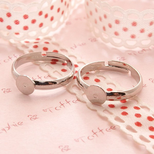 Iron Plating Adjustable Ring Pad 6mm - 10 pieces