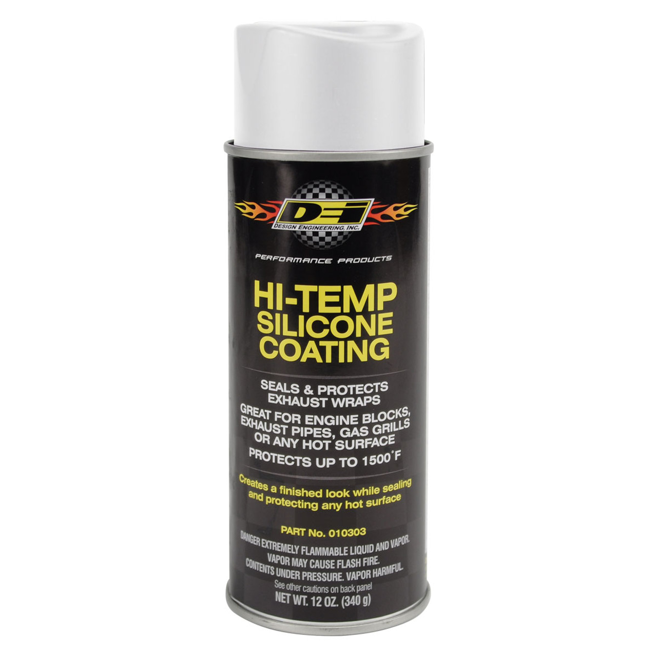 DEI High Temperature Silicone Coating Exhaust Wrap Downpipe Header Aluminum
