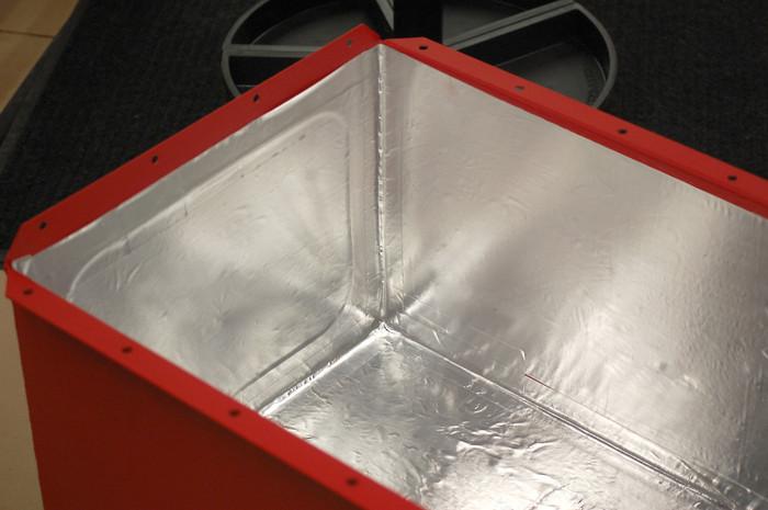 """DEI 010462 Reflect-A-Cool Thermal Barrier 24/"""" x 24/"""" Sheet Fiberglass /& Foil"""